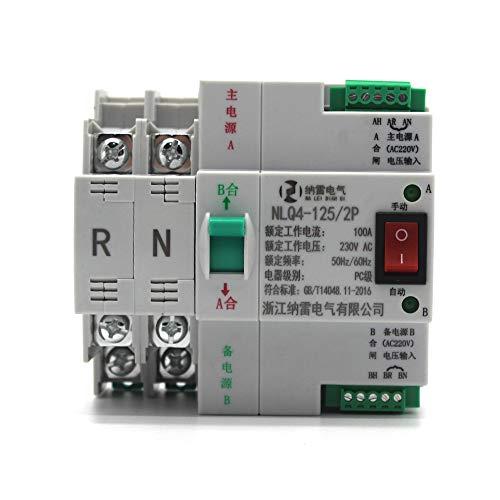 skrskr Interruptor seguro portátil Impetus sin apagón 2P 100A 230V 50 / 60HZ Fuente de doble impulso Auto-Switch