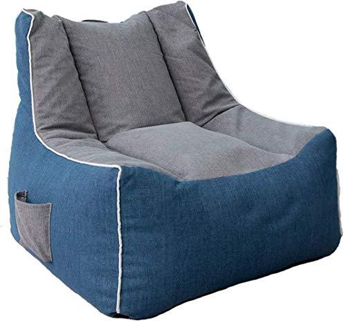 LHY- Sofá de dormitorio individual, sofá perezoso Sofá Tatami, simple reclinable, creativo, simple, puf, sofá, sillón perezoso, suave, Fibra sintética, gris, azul, 70*70*60cm