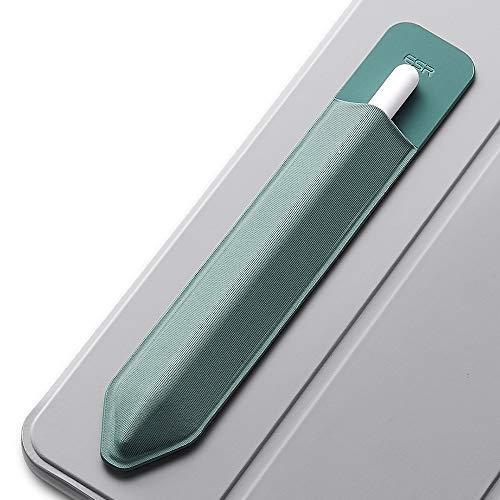 ESR Pencil Hülle kompatibel mit dem Apple Pencil (1. & 2. Generation) - Elastische Pencil Halter für Stylus Pen [sicherer Pencil Schutz] - Pencil Hülle mit Selbstklebender Rückseite - Grün