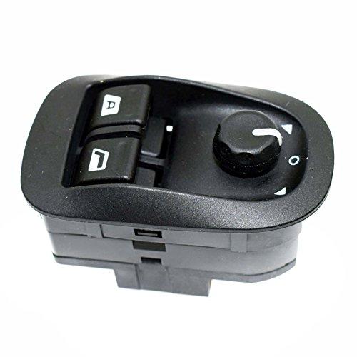 Puissance fenêtre commutateur électrique Master Miroir Bouton Noir 6554. WA pour Peugeots 206 306 1993-2016