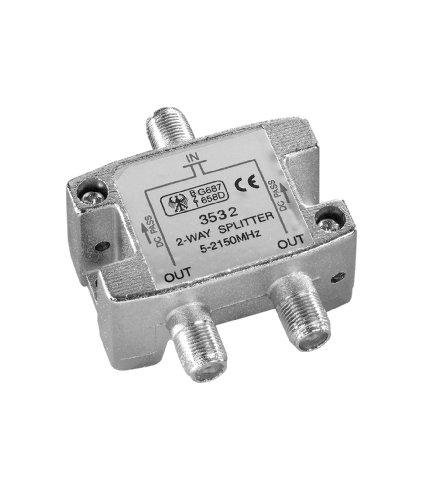 Vivanco STS BV2-NJ - Spliter para cable de antena, plata