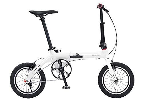ルノー(RENAULT) 軽量・コンパクト 7.4kg 14インチ 折りたたみ自転車 ULTRA LIGHT 7F ホワイト アルミフレ...