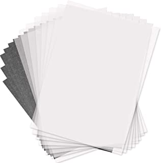 Selizo 150 Pcs Tracing Paper and Carbon Graphite Paper for Wood Burning Transfer, Wood Carving and Tracing