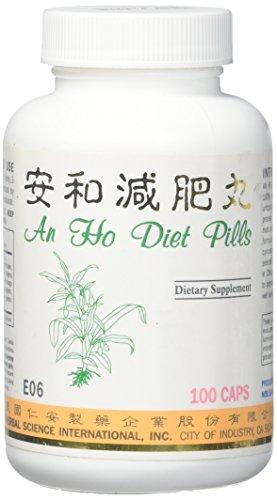 an Ho Diet Pills Dietary Supplement 500mg 100 Capsules (an He Jian Fei Wan) E06 100% Natural Herbs