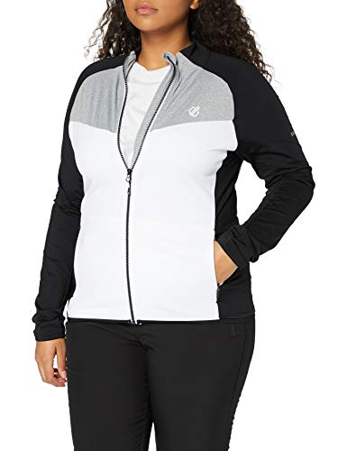 Dare 2B Veste Stretch Extensible Allegiance II, Pile Uomo Donna, Whit/Black/Ash, FR : XL (Taille Fabricant : 16)