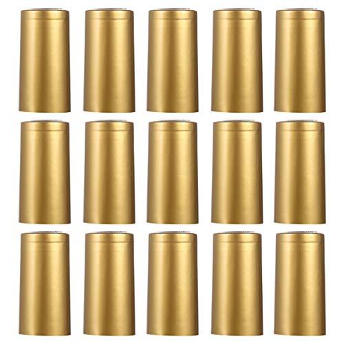 TOYANDONA 100 Stück PVC-Schrumpfkapseln für Weinkeller, Weinflaschen-Kapseln, Schrumpffolie für Zuhause (Golden)