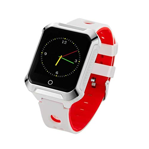 Rsiosle Kids Smart Phone Watch GPS Positioning Waterproof Smartwatch with HD Call SOS Function Pedometer Christmas Gives Boy Girl The Best Gift (Color : White)