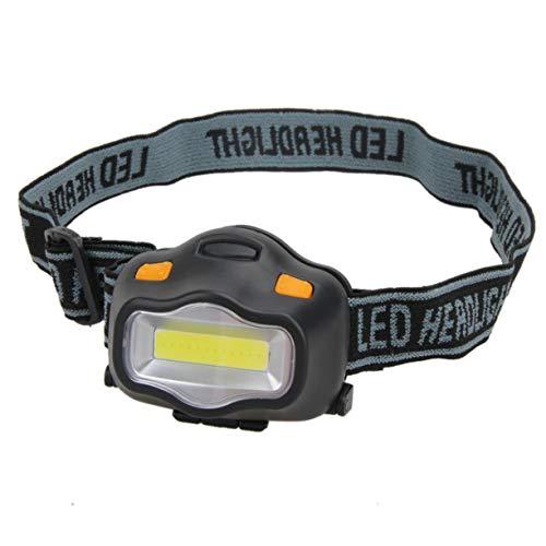 Sagladiolus Linterna frontal de luz LED ultra brillante de 12 LED, resistente al agua, color blanco y negro, 3 modos para acampar al aire libre