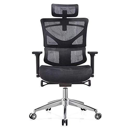 DJDLLZY Silla de oficina ergonómica, cómoda silla de juegos de ordenador, sala de estudio con respaldo ajustable silla giratoria (color negro)