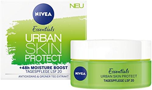 Nivea Essentials Urban Skin Protect Tagespflege, Lichtschutzfaktor 20, (50 ml), mit Antioxidans & Grüner Tee Extrakt