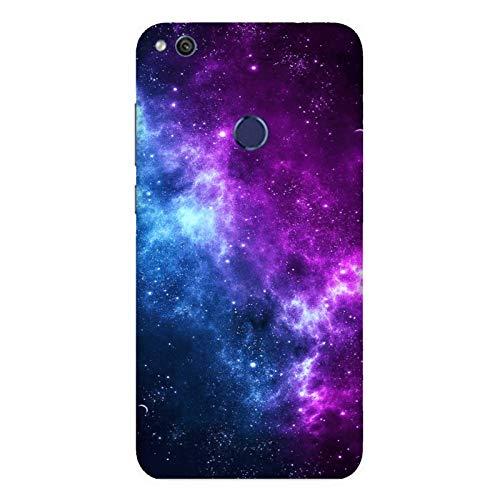 Cover Huawei P8 Lite 2017 | PRA-LA1 | PRA-LX1 Nebulosa di Orione nello spazio Galassia blu e viola / Custodia Stampa anche sui lati / Case Anticaduta Antiscivolo Antigraffio Antiurto Protettiva Rigida