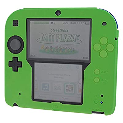Silicone cover for Nintendo 2DS soft gel protective rubber bumper case - Green | ZedLabz