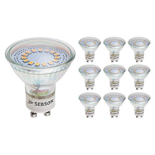 SEBSON LED Lampe GU10 warmweiß 3,5W, ersetzt 30W Halogen, 300 Lumen, GU10 LED Strahler 230V, LED Leuchtmittel 110°, 10er Pack