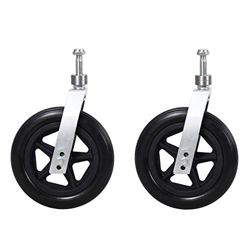 Universal Wheel Replacement Parts for Wheelchairs,with Aluminum Alloy Bracket,6inch/150mm,7inch/180mm,8inch/200mm Front Caster,Wheelchair Caster Assembly,2 Pcs
