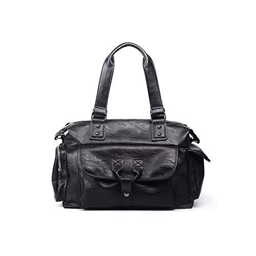 CttiuliGwb Nueva mochila de gran capacidad, maletín de documentos de viaje de negocios para hombres, bolso de hombro de bolso de cuero bolsa de viaje colgada, bolsa casual de moda de calle adecuada pa