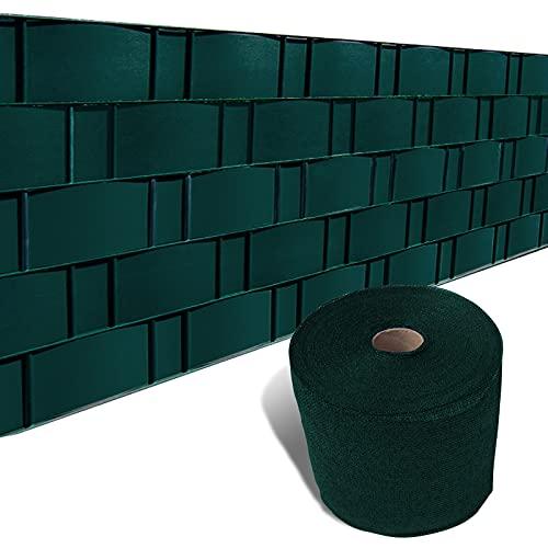Sunnylaxx 0.19X35m Balcón Pantalla Protección de Privacidad HDPE 185 g m² Protección UV,para Jardín Balcón Terraza,Verde Oscuro