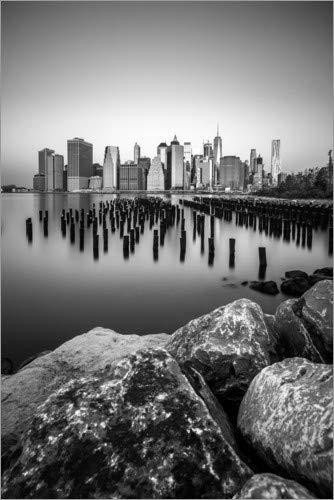 Posterlounge Acrylglasbild 120 x 180 cm: Skyline von New York City von Sören Bartosch - Wandbild, Acryl Glasbild, Druck auf Acryl Glas Bild