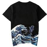 LANSI(レンシー)メンズ 和柄 Tシャツ 半袖 抜染 シャツ 刺繍 吸汗速乾 柄シャツ 和風 カットソー カッコいい ファッション メンズ 鯉 鶴 夏服