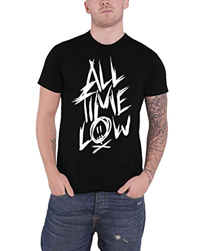 All Time Low T Shirt Scratch Band Logo Official Mens Black Size M