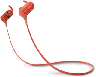 Sony MDR-XB50BSRZE Sports Headphones, Red