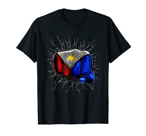 Philippines Flag Shirt Filipino Flag Fist Gift