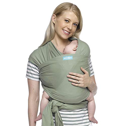 Moby Wrap Baby Carrier   Classic   Baby Wrap Carrier for Newborns & Infants   #1 Baby Wrap   Go to Baby Gift   Keeps Baby Safe & Secure   Adjustable for All Body Types   Perfect for Mom & Dad   Pear