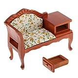#N/A/a Clásica casa de muñecas de Madera Victoriana Muebles de la Sala de Estar sofá en Miniatura sillón, Mini Silla de salón