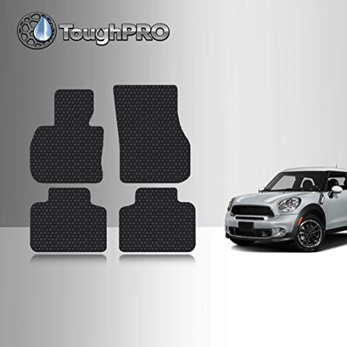 TOUGHPRO Floor Mat Accessories Set Compatible with Mini Cooper Countryman - All Weather - Heavy Duty - Custom Fit - (Made in USA) - Black Rubber - 2017, 2018, 2019, 2020