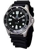 Moderno orologio subacqueo di Tauchmeister con data, cinturino in PU T0321