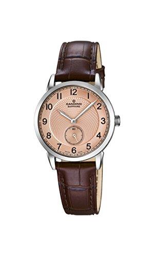 Candino Damen Analog Quarz Uhr mit Leder Armband C4593/3