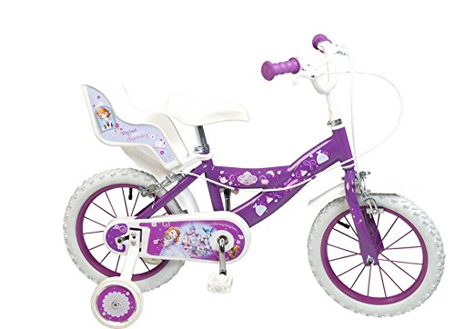 TOIMS Princesse Sofia Vélo Mixte Enfant, Violet, 14\