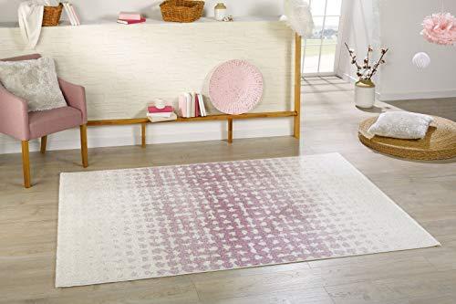 Sona-Lux Teppich Brücke Leo gewebt Farbe rosa Größe : 80 x 150 cm