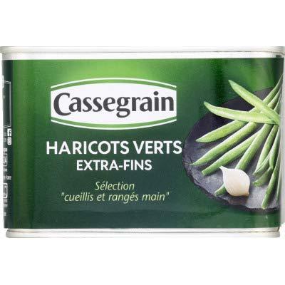 Cassegrain Haricots verts extra-fins - La boîte de 390g net égoutté