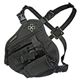 Coaxsher Radio Chest Harness Rig for 2 Way Radio, GPS and Hand Held Electronics | Ideal for Tactical Search and Rescue, Ski Patrol, Military and Emergency Response Personnel (RP-1 Scout)