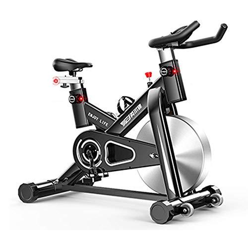 Heimtrainer, Verstellbarer Lenker Sitzwiderstand mit rutschfestem Pedal, elektromagnetisches Spinnrad für zu Hause Smart App liest Kalorien Geschwindigkeit Zeit usw, Aerobic-Training Maxima