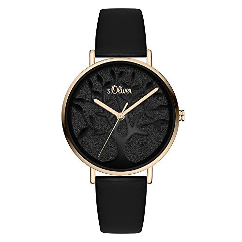 s.Oliver Damen Analog Quarz Armbanduhr SO-3871-LQ