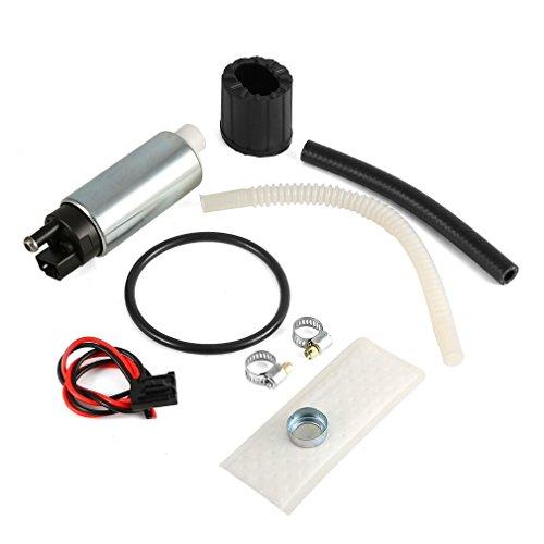 FairytaleMM Reemplazo de la Bomba de Combustible eléctrica de Alta presión Walbro 255 LPH Intank GSS343 (Color: Plateado y Negro)