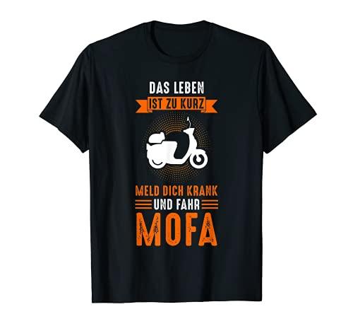 Moped Scooter Roller Mofa Mofafahrer T-Shirt