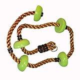 N/A - Cuerda para escalar para niños, material resistente a las inclemencias del tiempo, con gancho de seguridad y escalones