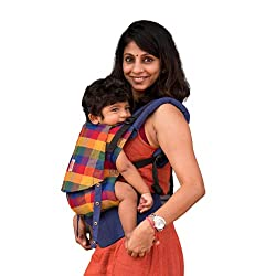 Kol Kol Baby Carrier Bag, 100% Cotton, Hand Woven, Ergonomic Baby Carry Bag with Hood & Storage Pocket, 6 Months ot 4 Years, Cinnamon, Pink, Unisex,Kol Kol Baby Carrier