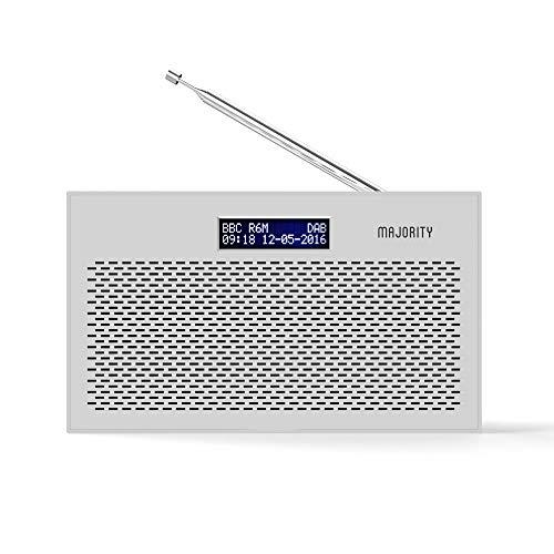 Majority Histon II DAB/DAB+ Digital & FM Portable Radio, Dual Alarm Clock,...