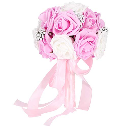 TOPINCN - Ramo de flores artificiales para boda, decoración de jardín, accesorios