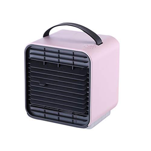 YOUCHOU Mini ventilador de refrigeración por aire portátil con alimentación de escritorio recargable de iones negativos Mini ventilador eléctrico con ajuste de 3 velocidades de viento ventilador fresc