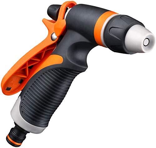 Pistola rociadora de agua multifuncional de plástico para riego de jardinería, dispositivo de riego para lavado de autos doméstico con mango suave, boquilla de ducha para mascotas