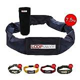 LOOPMAXX Gewichtgurt Hometrainer Fitness Damen und Herren Workout 7,5 Kg blau
