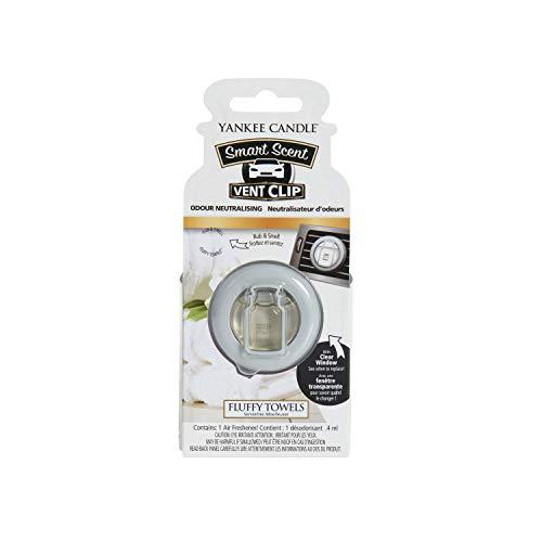 Yankee Candle 1525151E Deodoranti per Auto, Smart Scent Vent Clip, Fluffy Towels