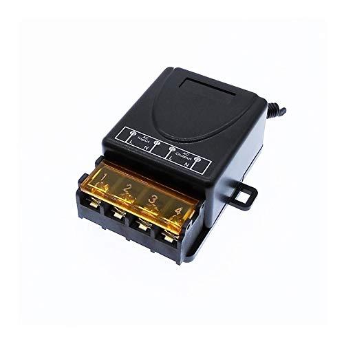Interruptor de balancín en/apagado Interruptor de control remoto inalámbrico de 12V DC 24V AC 220V 40A MAX universal de relés Módulo Receptor voltaje amplio 433Mhz EV1527 (Color : DC 12 72V)