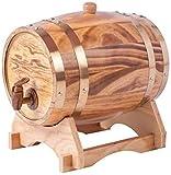 Milu deer Vieillissement en chêne chêne chêne chômeur Distributeur de tonneau de Whisky fût de ménage utilisé pour Le vin, Les spiritueux, la bière et la Liqueur Jaune Clair