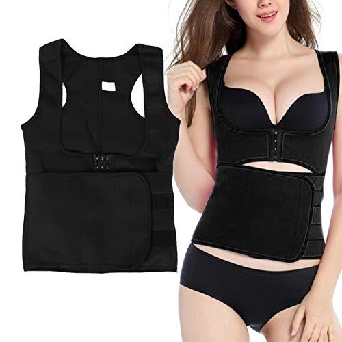 Faja reductora de grasa para mujer, moldea el sudor, pérdida de peso para moldear el cuerpo, chaleco para control abdominal [S.] ✅
