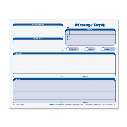 TOPS Snap-Off Rapid Letter Message Form, Triplicate, 8.5 x 7 Inches, 50 Sets per Pack (3801)
